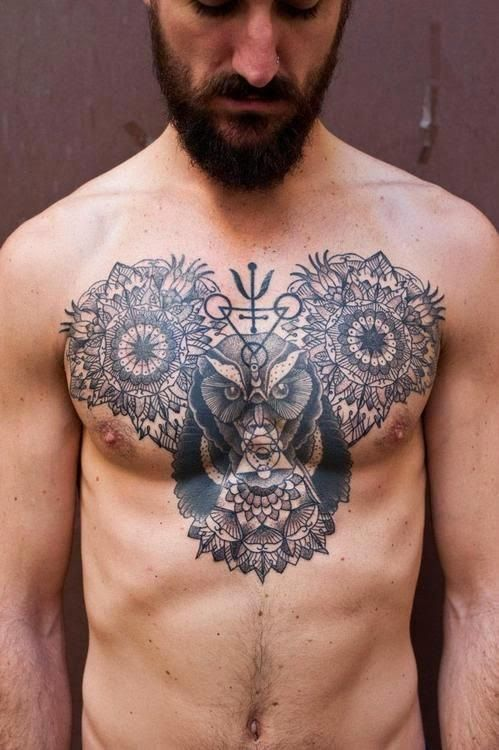 chest tattoos for men men 39 s tattoo ideas. Black Bedroom Furniture Sets. Home Design Ideas