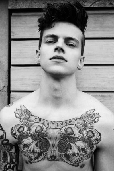 Middle Chest Tattoo: Chest Tattoos For Men