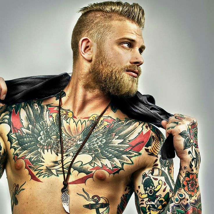 Male Chest Tattoo Gallery