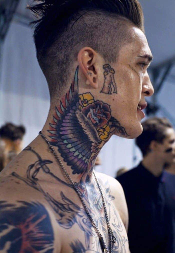 Neck tattoo designs for men mens neck tattoo ideas for Male tattoo ideas
