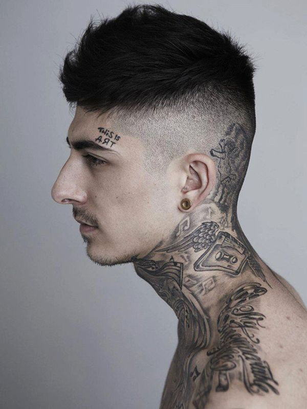 Neck Tattoo Designs for Men - Mens Neck Tattoo Ideas