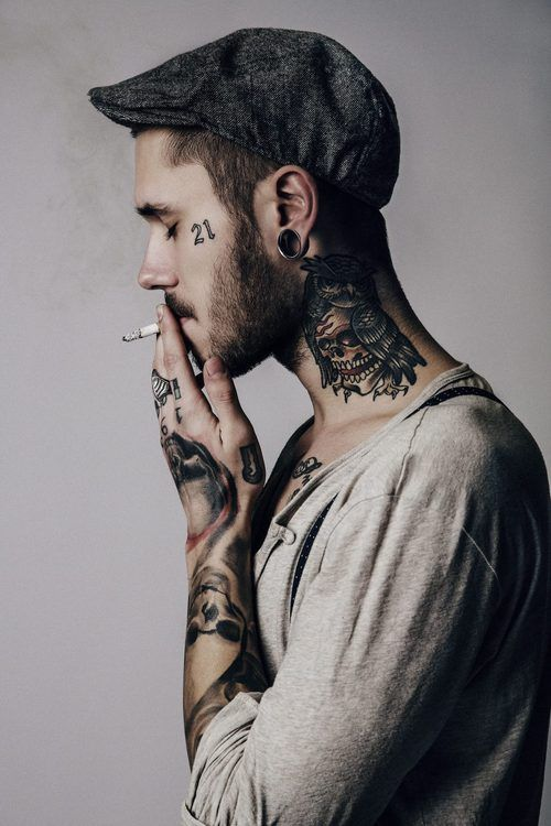 Neck tattoo designs for men mens neck tattoo ideas for Guys tattoos tumblr