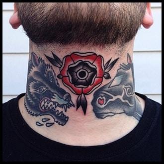 Neck Tattoo Ideas for men