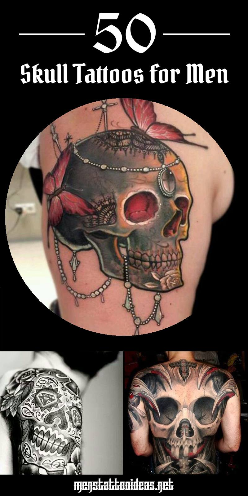 Tattoo Skull: what does such a tattoo mean 61
