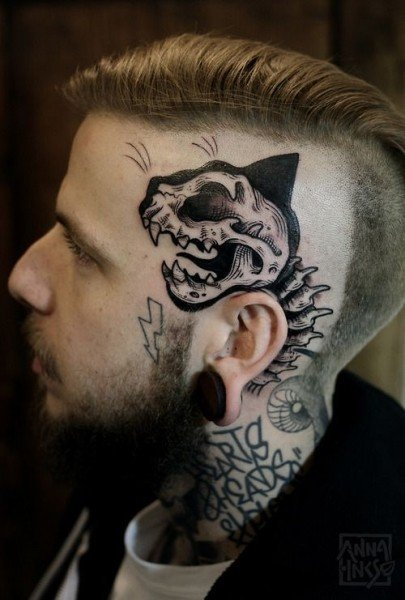Skull tattoos designs for men meanings and ideas for guys for Tattoos on side of head