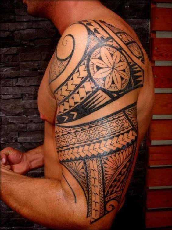 Tribal tattoos for men ideas and inspiration for guys in for Tribal half sleeve tattoos