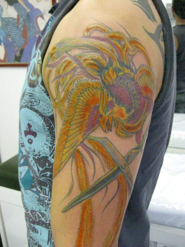 Phoenix Sleeve Tattoos