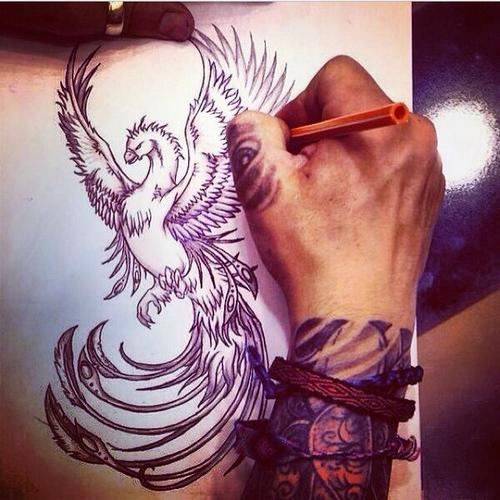 symbolic meanings of phoenix tattoos for men. Black Bedroom Furniture Sets. Home Design Ideas