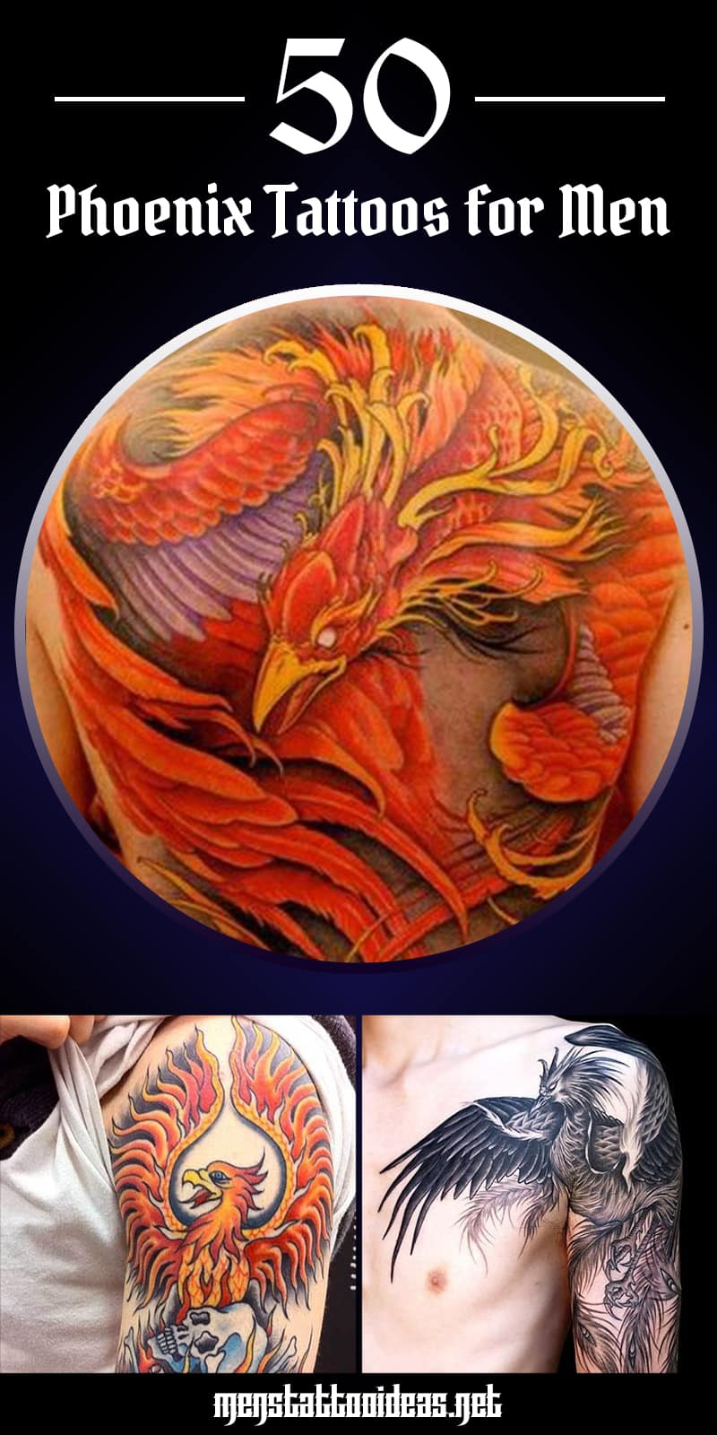 Phoenix Rising Ashes Tattoo Designs