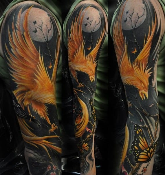 Phoenix Tattoo Sleeve
