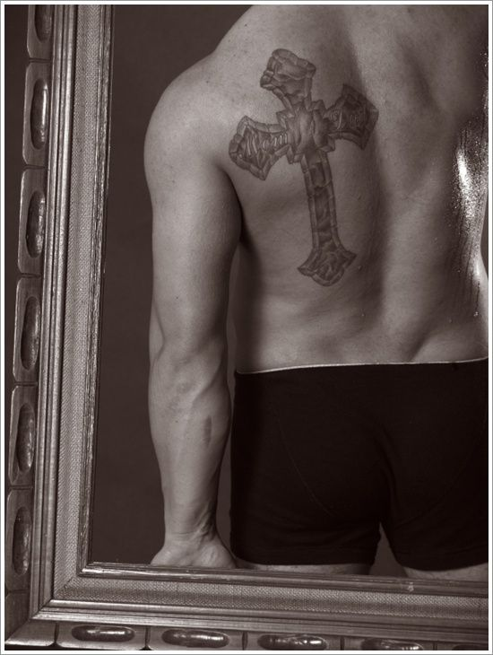 Cross Design on Guy's Back