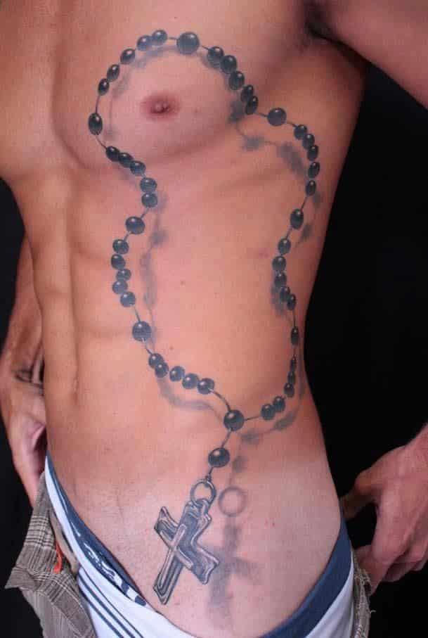 Holy Rosary Tattoo Design for Men