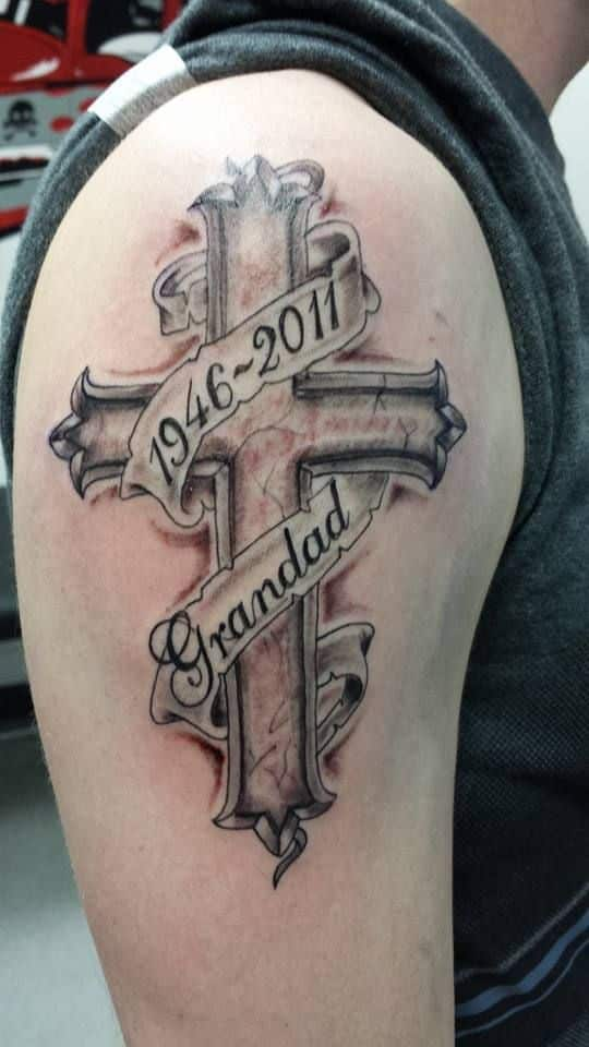 Remembrance Cross Tattoo for Guys