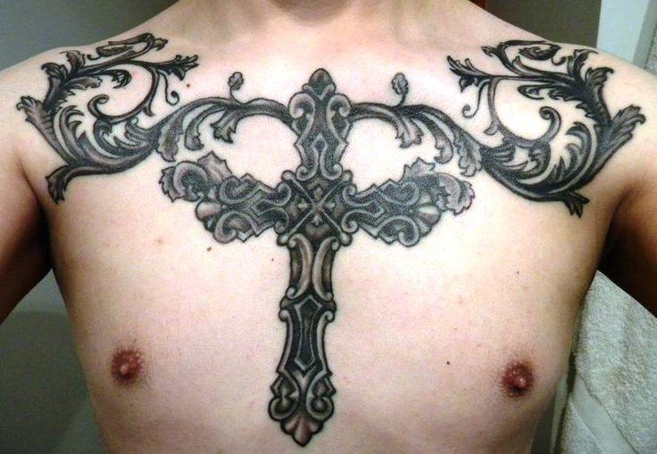Men's Chest Tattoo