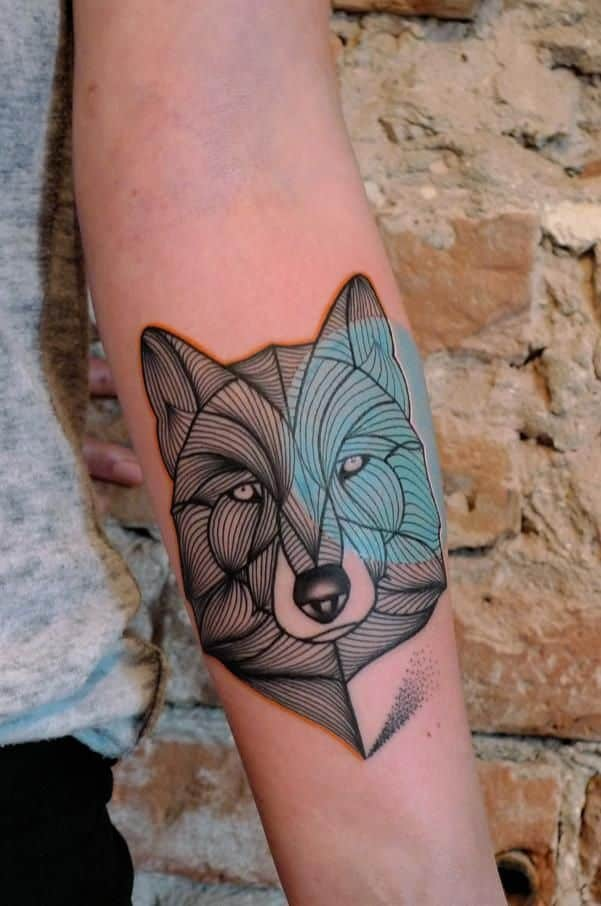forearm tattoos tattoo wolf designs tatto modern tat lines guys awesome guy
