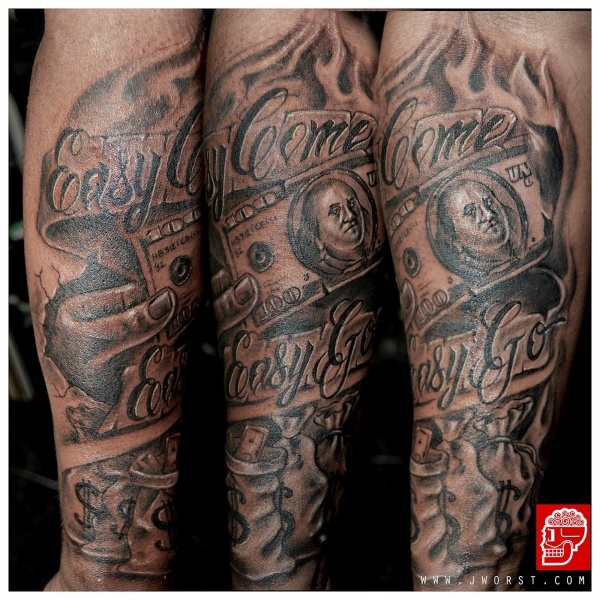 Get Money Sleeve Tattoos