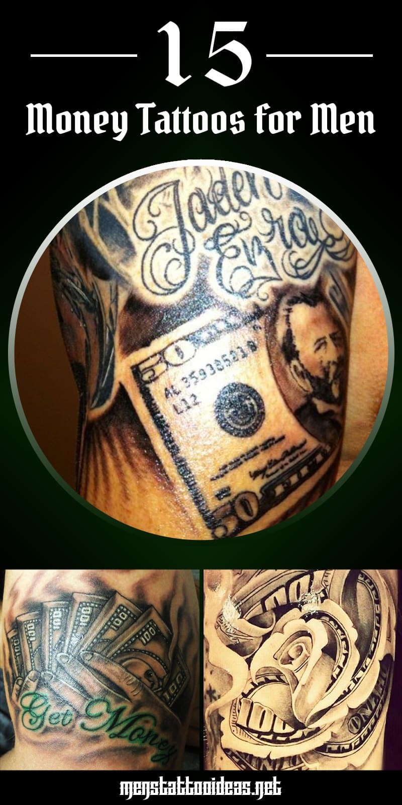 32702ec263009 Money Tattoos for Men - Dollar Tattoo Ideas for Guys