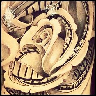 Money Tattoo Ideas for men