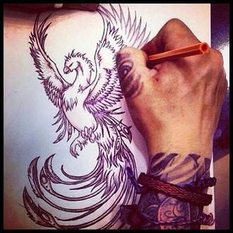 Phoenix Tattoo Ideas for men