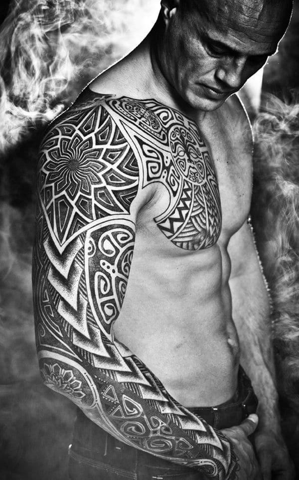 Black Full Sleeve Tattoo