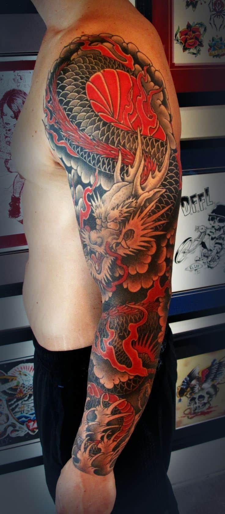 47 sleeve tattoos for men design ideas for guys for 1 4 sleeve tattoo