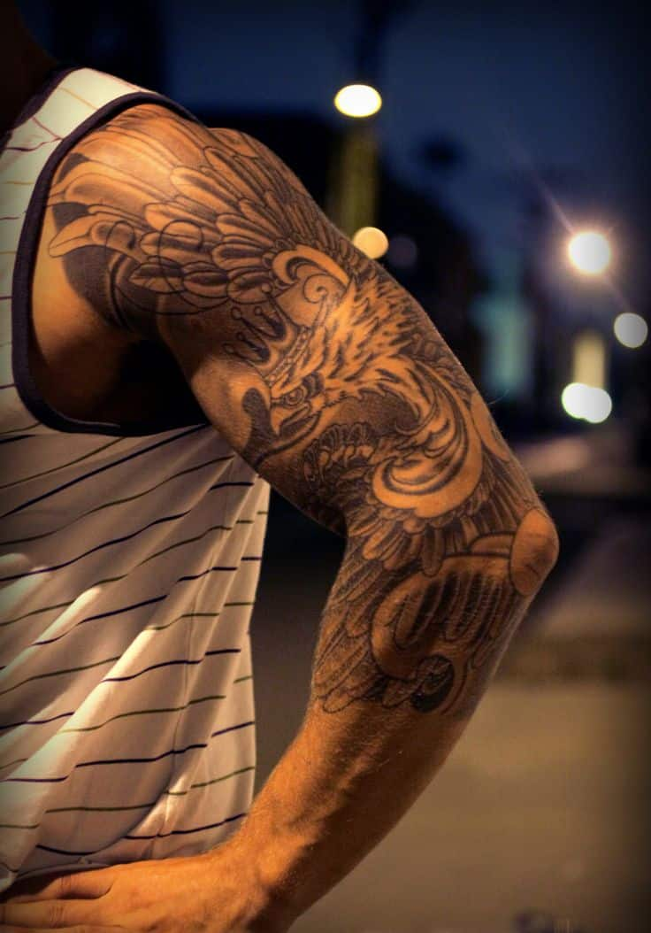 47 sleeve tattoos for men design ideas for guys for Ideas for half sleeve tattoos for men