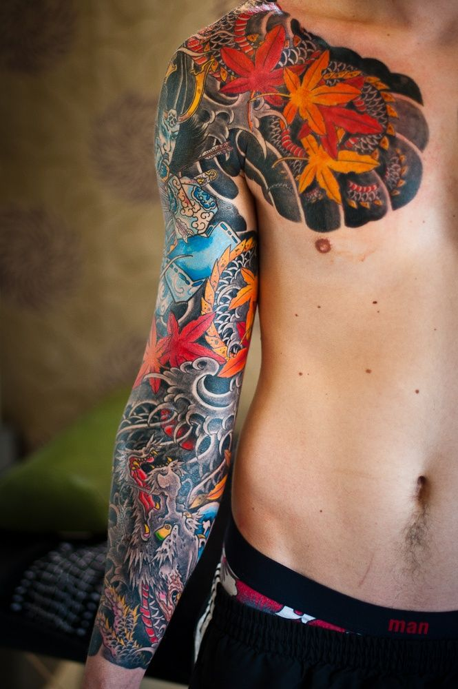 47 sleeve tattoos for men design ideas for guys for Japanese sleeve tattoos meanings