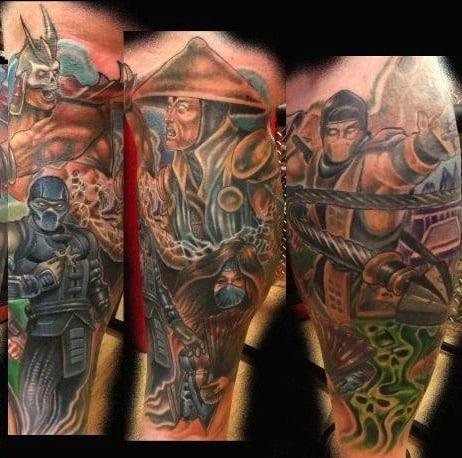 video game tattoos for men gamer tattoo ideas for guys. Black Bedroom Furniture Sets. Home Design Ideas