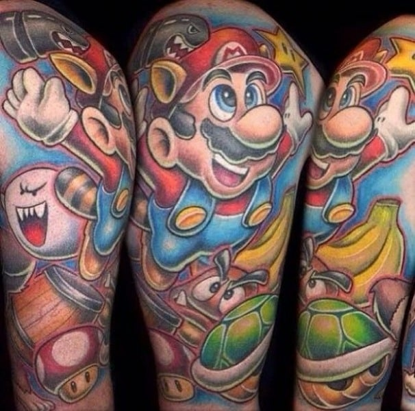 video game tattoos for men gamer tattoo ideas for guys. Black Bedroom Furniture Sets. Home Design Ideas