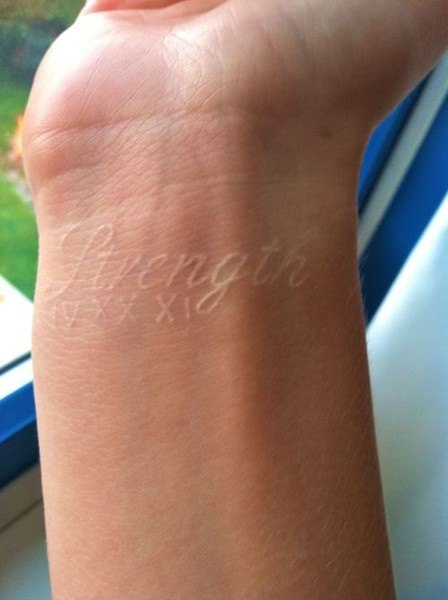 White ink tattoos for men ideas and designs for guys for Is white tattoo ink safe