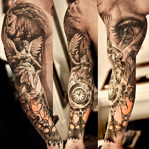 0780ac236 Angel Tattoos for Men - Ideas and Inspiration for guys