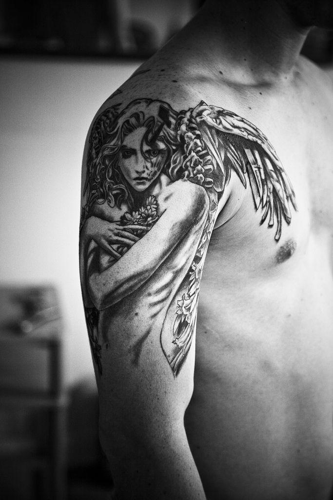 Angel tattoo for guys