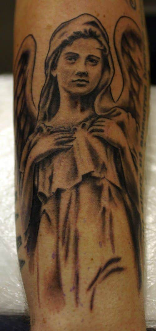 angel arm tattoo for men