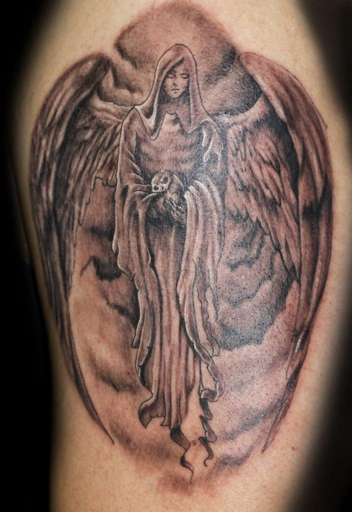 Angel tattoos for men ideas and inspiration for guys for Male tattoo ideas