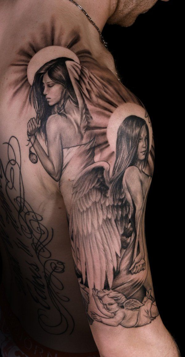 holy angel tattoo