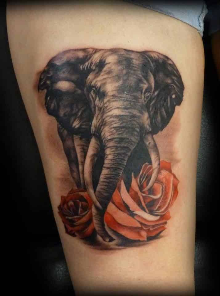 Elephant tattoos for men ideas for guys and image gallery for Pictures of tattoos