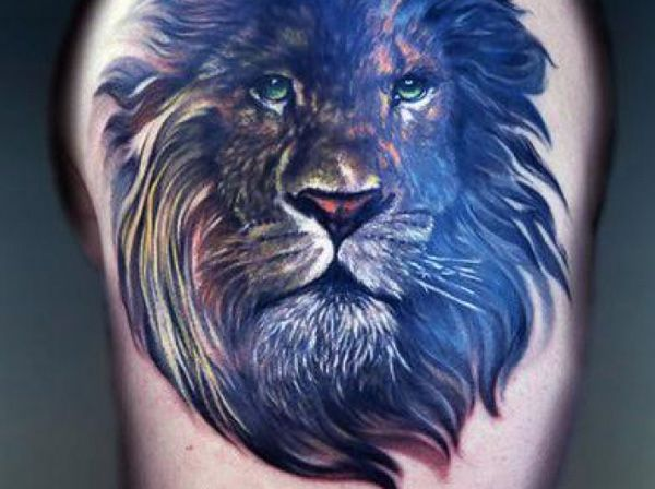 lion tattoos for men ideas and image gallery for guys. Black Bedroom Furniture Sets. Home Design Ideas