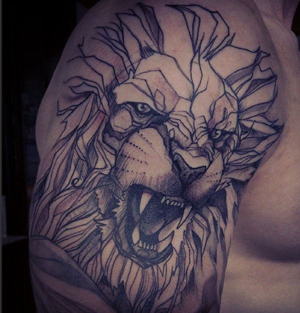 this lion tattoo for