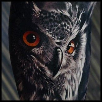 Owl Tattoo Ideas for Guys