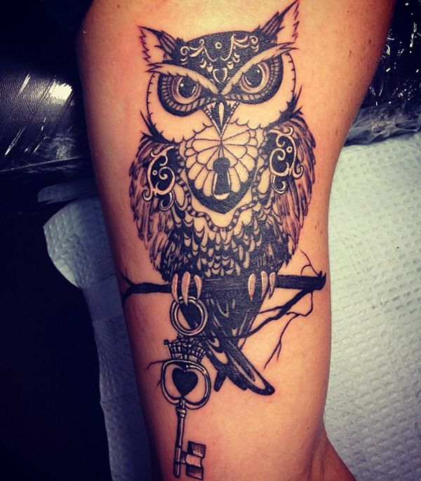 owl tattoos for men inspiration and gallery for guys. Black Bedroom Furniture Sets. Home Design Ideas