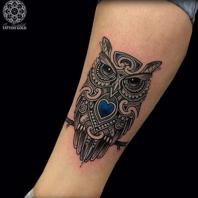 40 Cute Owl Tattoo Design Ideas 2019