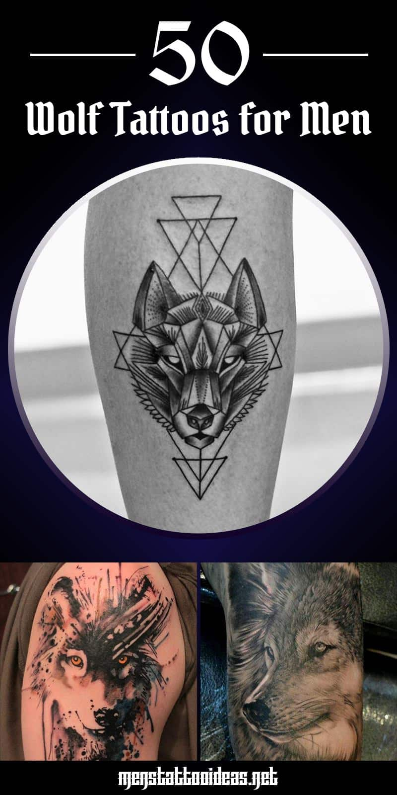 ebd9be2b8e56b Wolf Tattoos for Men - Ideas and Inspiration for guys