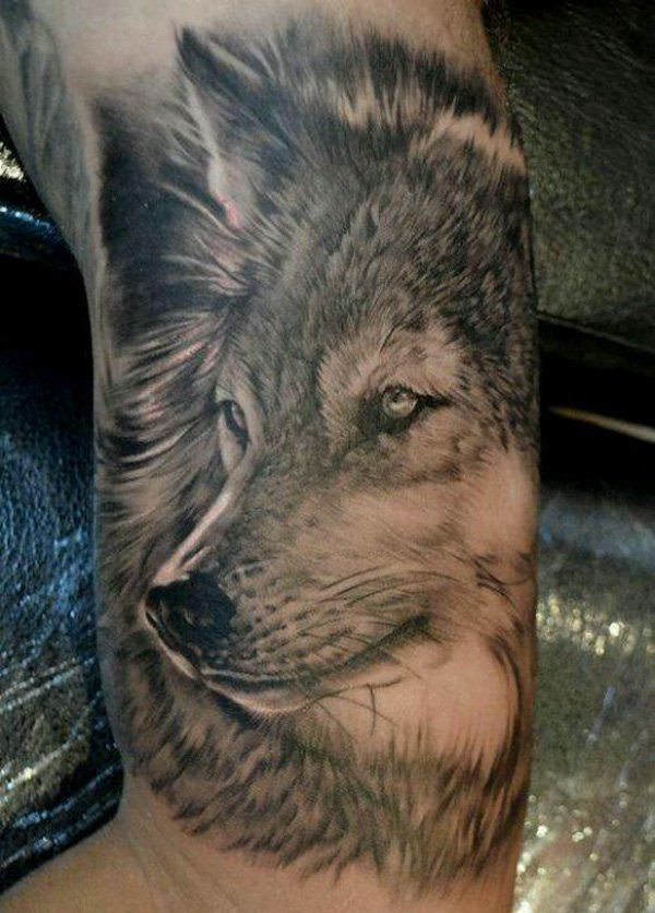 Wolf tattoos for men ideas and inspiration for guys for Red wolf tattoo