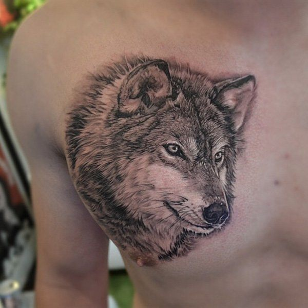 wolf tattoos for men ideas and inspiration for guys. Black Bedroom Furniture Sets. Home Design Ideas