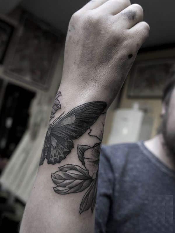 wrist tattoo for men