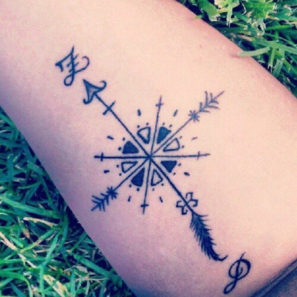 Arrow tattoos for men inspiration and ideas for guys for Delicate wrist tattoo designs