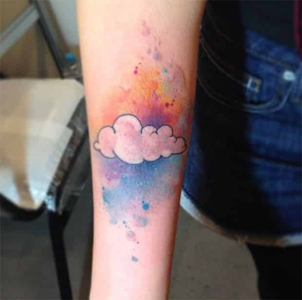 Cloud tattoos for men ideas and designs for guys for Tattoos that symbolize change