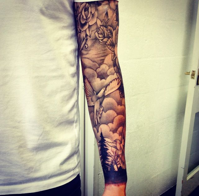 Cloud Tattoos for Men - Ideas and Designs for Guys