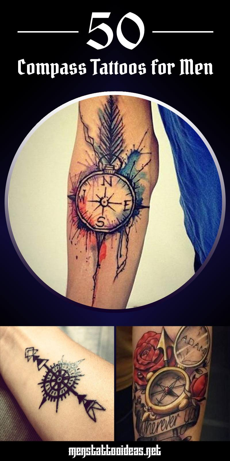 Compass tattoo ideas