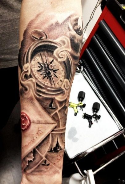 compass-tattoos-16